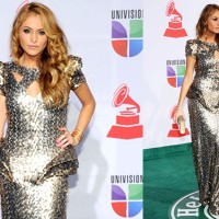 Best dressed at the Latin Grammys 2011: Paulina Rubio dressed by Johana Hernandez