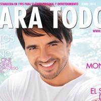 Luis Fonsi en portada de Para Todos Junio 2014