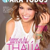 La bella Thalia en la portada de Mayo de Para Todos