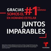Telemundo Posicionado Para Histórico Triunfo Como El Líder Indiscutido De Los Medios Hispanos Durante Dos Temporadas Consecutivas